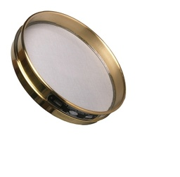 "[A008BAW9.50H] CSC 8"" Brass Half-Height Sieve 9.50mm or 3/8"""